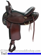 "16"" 17"" American Saddlery Texas Best Hill Country Trail II Saddle, Mule Bar 940M"
