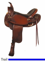 "16"" 17"" American Saddlery Texas Best Hill Country Trail III Saddle, Mule Bars am938M"