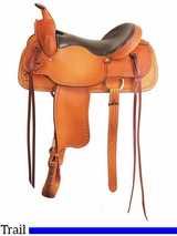 "16"" 17"" American Saddlery Texas Best The San Saba Trail Saddle 951"
