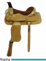 "16"" 17"" American Saddlery Trail Master Brazos Roper Saddle 1650 1850"