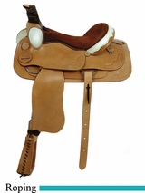 "16"" 17"" American Saddlery Trail Master Rawhide Brazos Roper Saddle am1655-1855"