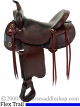 "16"" 17"" Big Horn Evolution Flex Trail Saddle 1690 1691"