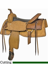 "** SALE ** 16"" 17"" Billy Cook Down the Fence Cutting Saddle 291577"