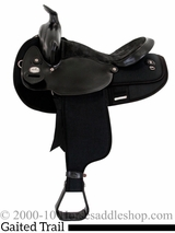 "16"" 17"" Fabtron Black Gaited Horse Saddle 7141 7143"