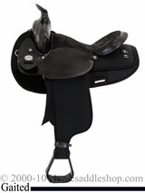 "16"" 17"" Black Fabtron Gaited Horse Saddle 7141 7143"