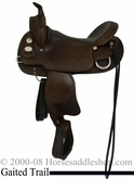 "16"" 17"" Crates Gaited Horse Trail Saddle Mahogany Black 281"