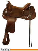 "DISCONTINUED 16"" 17"" Crates Supreme Reining Saddle Regular or Wide 4562"