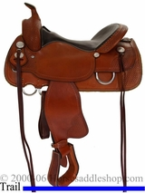 "** SALE **15"" to 17"" Crates Supreme Trail Saddle 2170"