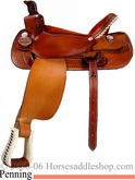 "16"" 17"" Custom Dakota Penning Roper Saddle FQHB dk 420"