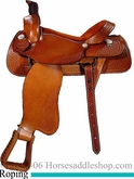 "16"" 17"" Custom  Dakota Roper Saddle FQHB/Wide Tree dk 501"