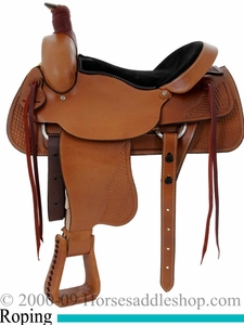 16inch 17inch Custom Roping Saddle by Dakota