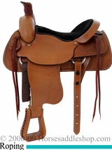 "16"" 17"" Dakota FQHB Roping Saddle 501-c"