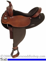 """16"""" 17"""" Fabtron Extra Wide Saddle with Round Skirt 7186"""