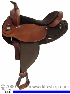 "16"" 17"" Extra Wide Saddle for Haflinger or Short Back Wide Horses by Fabtron 7186"