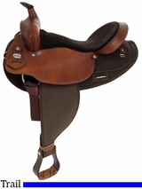 "SOLD OUT 16"" Fabtron Extra Wide Saddle with Round Skirt 7186"