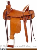 "16"" 17"" Hard Seat Custom Ranch Saddle A-Fork FQHB dk 209af by Dakota"