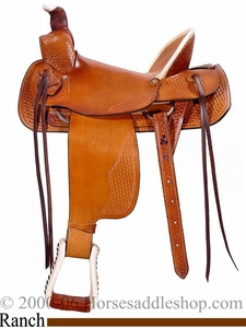 "16"" 17"" Dakota Hard Seat Ranch A-Fork Saddle 209af"