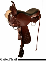"16"" 17"" High Horse by Circle Y Round Rock Gaited Trail Saddle 6870"