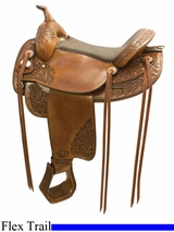 "16"" 17"" Tex Tan Butte Flex Trail Saddle 292TF521PN"