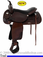 "16"" 17"" Tex Tan Gresham Pleasure Saddle AQHA 08-4022C"