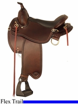 "16"" 17"" Tex Tan Monroe Flex Trail Saddle 292TF489LC"