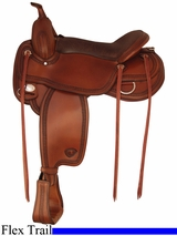 "16"" 17"" Tex Tan Montgomery Flex Trail Saddle 292TF481"