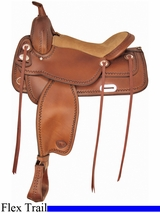 "16"" 17"" Tex Tan Salem Flex Trail Saddle 292TF476"
