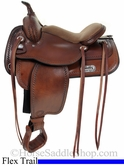 "16"" 17"" Tex Tan Salem Flex Trail Saddle 08-TF402-1"