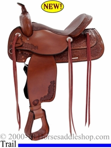 "DISCONTINUED 16"" Tex Tan Trail Pleasure Saddle 08-4022-2p"