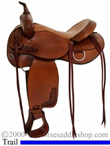 "16"" 17"" Tex Tan Live Oak Trail Saddle 292499"