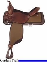 "16"" 17"" Tex Tan Waskom Nylon Trail Saddle 292NY522"
