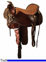 "** SALE **15.5"" to 18.5"" Tucker Cheyenne Frontier Trail Saddle 167"