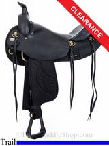 "16.5"" Big Horn Black Synthetic Trail Saddle 284 285"