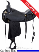 "SOLD 2016/04/22 16.5"" Big Horn Black Synthetic Arabian Trail Saddle 284 285 CLEARANCE"