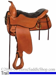 "DISCONTINUED ** SALE **16.5"" Cheyenne Springs Tucker Trail Saddle 166 *free gift*"