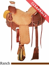 "SOLD 2016/10/31  16.5"" Reinsman Wade Ranch Saddle 4602 CLEARANCE"