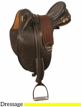 "** SALE ** 16.5"" to 17.5"" Kincade Leather Dressage Saddle 746052"