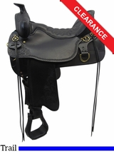 "SOLD 2016/05/09  17.5"" High Plains Tucker Trail Saddle 260 CLEARANCE"