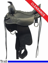 """SOLD 2016/07/16  16.5"""" High Plains Tucker Trail Saddle 260 CLEARANCE"""