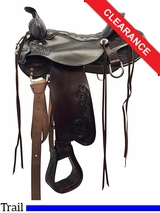 """SOLD 2016/09/21  16.5"""" Tucker Meadow Creek Trail Saddle 291 CLEARANCE"""