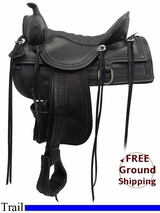 """SOLD 2015/11/08 16.5"""" Tucker Old West 277 Trail Saddle, Wide Tree, Exclusive ustk3271 *Free Shipping*"""