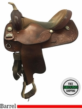 "16.5"" Used Big Horn Medium Barrel Saddle 1610 usbh3616 *Free Shipping*"