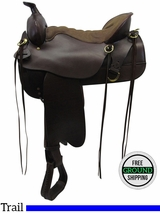 "SOLD 2016/06/24  16.5"" Used Tucker Cheyenne Frontier Wide Trail Saddle 167 ustk3304 *Free Shipping*"