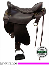 "SOLD 2016/06/04 16.5"" Used Tucker Endurance Wide Trail Saddle 159 ustk3472 *Free Shipping*"
