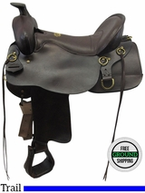 "SOLD 2016/11/12  17.5"" Used Tucker Gen II High Plains Wide Trail Saddle 262 ustk3543 *Free Shipping*"
