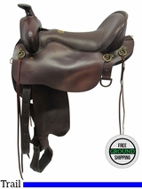 """OWNER SOLD 2016/09/27  17.5"""" Used Tucker Gen II High Plains Wide Trail Saddle 262 ustk3551 *Free Shipping*"""