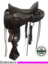 """16.5"""" Used Tucker Gen II Tevis Competitor Wide Endurance Saddle 151 ustk3706 *Free Shipping*"""