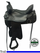 """2016/09/09 NO LONGER AVAILABLE 16.5"""" Used Tucker High Plains X Wide Trail Saddle 260 ustk3570 *Free Shipping*"""