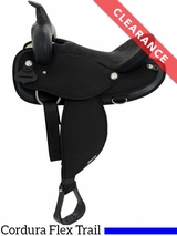 "SOLD 2017/03/23  15"" Abetta Original Nylon Flex Trail Saddle 20501FBK CLEARANCE"