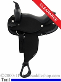 "SOLD 2014/02/28 $436.50 16"" Abetta Sublime Super Cusion Flex Trail Saddle 20500"